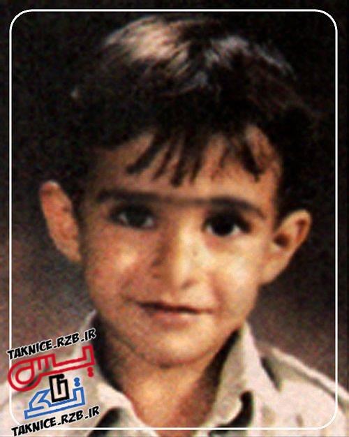 تک عکس دوران کودکی محسن یگانه
